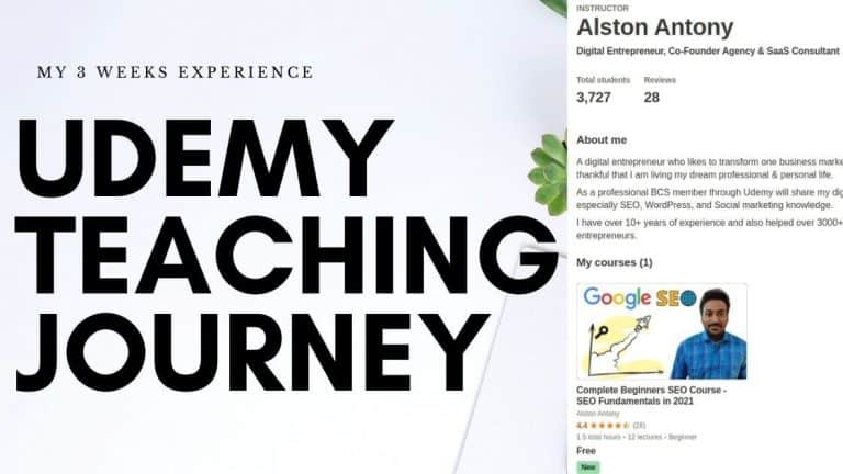 udemy teaching
