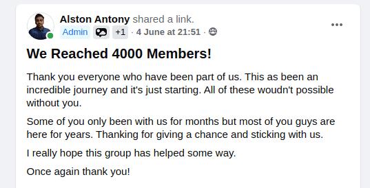 4k members